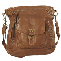 Double Zipper Crossbody Bag - WetSeal