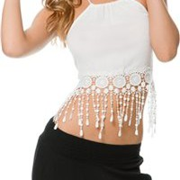 HEATHER CROP FRINGE TANK