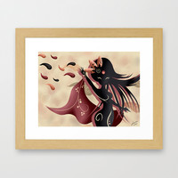 Sarah oriantal woman Framed Art Print by LouJah