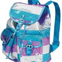 Large Sequin Stripe Rucksack