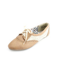 CROCHET & RIBBON-LACED OXFORDS