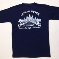 Cambodge CAMBODIAN ANGKOR WAT T Dark Blue COLOR (M/M) SIZE Soft