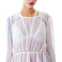 Dot Me Up Cut Out Blouse