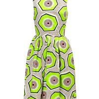 Kiwi Print Cotton Dress | Carven | Avenue32