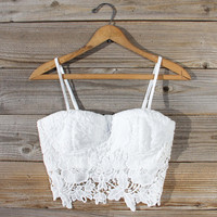 La Lune Lace Bustier in White