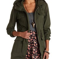 EXTRA-LONG HOODED ANORAK JACKET