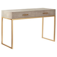 Lantau Faux Shagreen & Gold Dressing Table