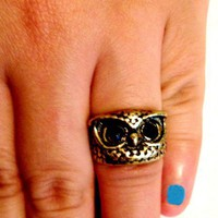 Retro Owl Ring Vintage Styled Size 5 | christinepurr - Jewelry on ArtFire