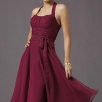 Chiffon Halter dress of Affairs by Mori Lee