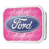 Buckle-Down Licensed Pink Ford Logo Belt Buckle. Pink. One Size.