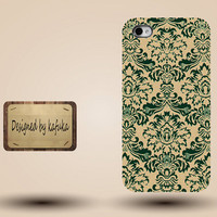 iphone case, i phone 4 4s 5 5s case, iphone4 iphone4s iphone5 case, plastic rubber silicone cases cover,retro yellow green floral p1159