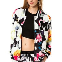 The Tropical Fantasy Jacket in Black, White, and Pink