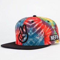 Neff Tie Dye Mens Snapback Hat Multi One Size For Men 23059695701