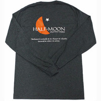 Half-Moon Outfitters Long Sleeve Cresent Logo T-Shirt, Long Sleeve T-Shirt