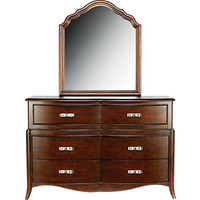 Nicolette Cherry Dresser and Mirror Set
