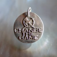 Change the game Solid Silver Hunger Games Inspired by CharmsMaker