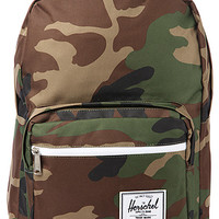 The Pop Quiz Backpack in Woodland Camo