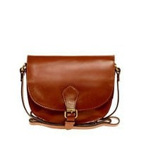 ASOS | ASOS Leather Saddle Bag at ASOS