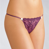 Felina Harlow Low Rise G-String Panty 694P at BareNecessities.com