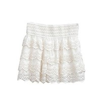 Zacoo Women's Crochet Pleated Lace Shorts