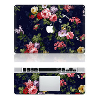 cottonrose hibiscus macbook pro cover decals mac pro cover stickers macbook pro decal laptop stickers macbook air cover stickers for pro/air