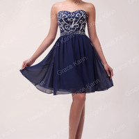 Formal Homecoming Prom Bridal Ball Gown Cocktail Short Party Evening Dress STOCK