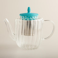AQUA GLASS STOVETOP TEA KETTLE