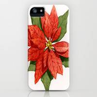 Christmas Poinsettia Flower iPhone & iPod Case