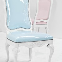 monte carlo dining chair in pastel faux patent leather