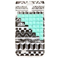 STUDDED TRIBAL PRINT PHONE CASE - SG