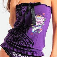 Ed Hardy Beyonce Flower Tube Top