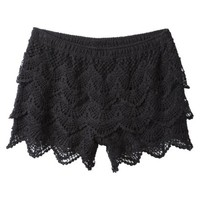 Xhilaration® Junior's Lace Short - Black