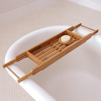 Bamboo Bathtub Tray - World Market
