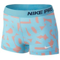 "Nike Pro Printed 3"" Core Short - Women's at Lady Foot Locker"