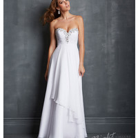 Night Moves by Allure 2014 Prom Dresses - White Chiffon Strapless Sweetheart Prom Dress