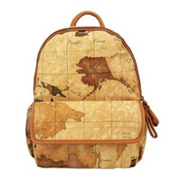 Global Map Print Backpack Fashion School Book Bag Satchel
