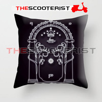 "Magic gate of Moria - Pillow Cover 18"" x 18"" - One Side"