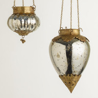 MERCURY GLASS LANTERNS
