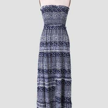 Curacao Printed Maxi Dress