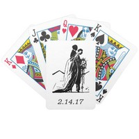Bride Groom Vintage Playing Cards