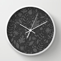 Breezy (Mono) Wall Clock by Nick Nelson