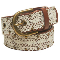 Crochet Studded Jean Belt | Wet Seal