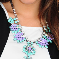 More Than Just Dreams Necklace: Mint/Purple