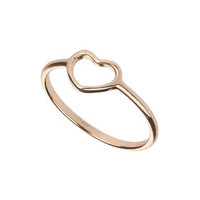 CUT OUT HEART MIDI RING