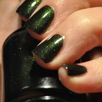 Number 1 Obsession by Piper Polish - Bright Green to Copper/Gold Color Shift Sparkle Topcoat - 7ml Sample Size