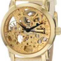 Amazon.com: Akribos XXIV Women&#x27;s AKR431YG Gold Swiss Automatic Skeleton Watch: Watches