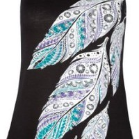 Amazon.com: FULL TILT Crochet Back Feathers Womens Tank: Clothing