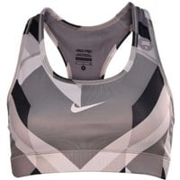 Nike Women's Dri-Fit Pro Printed Sports Bra-Light Gray/Multi