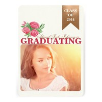 ELEGANT FLORAL PHOTO GRADUATION ANNOUNCEMENT