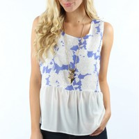 Floral Flow Luxe Top
